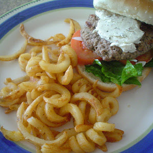 Hamburgers with Goat Cheese and Mustard
