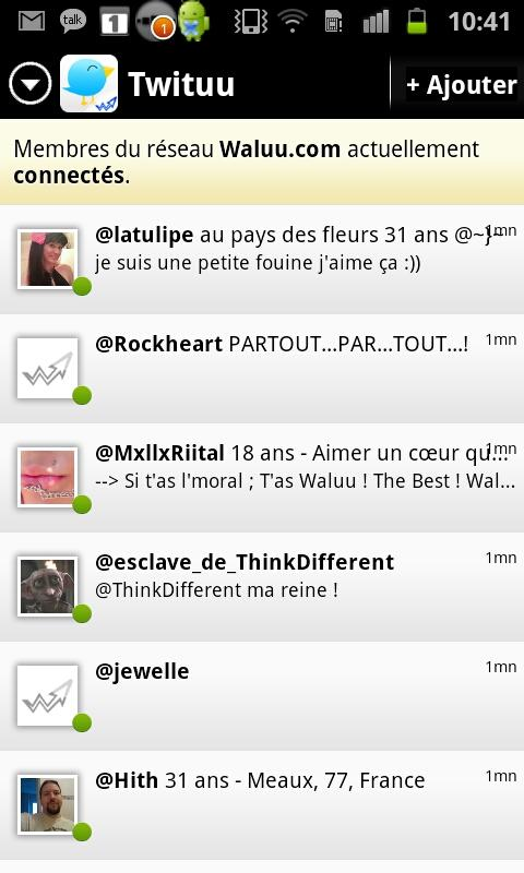 Tchat pour Geek : GeekLive - screenshot