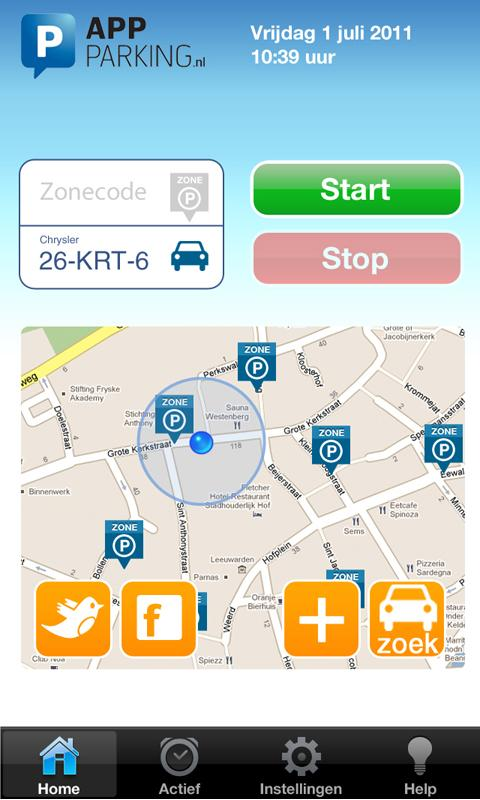 App-Parking - screenshot