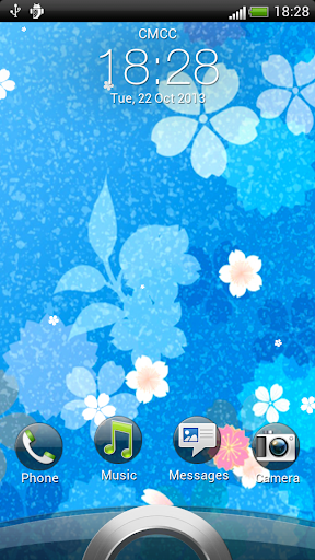 水晶藍花紋動態壁紙