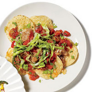 Bean and Chorizo Nachos.
