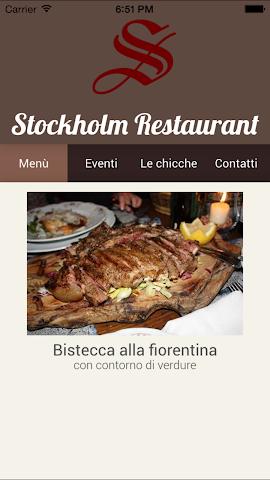 Screenshot 1 Ristorante Stockholm