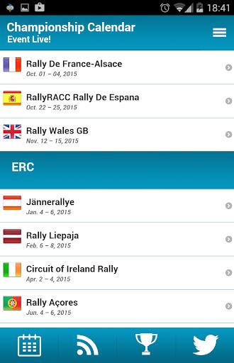 WRC - World Rally Calendar