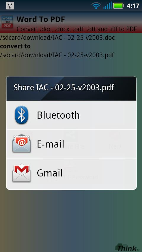Word To PDF (doc, docx) - screenshot