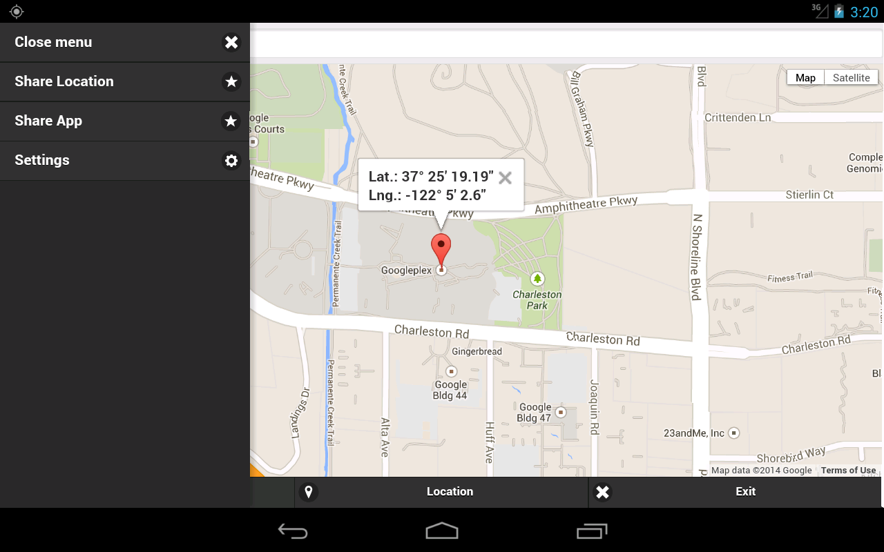 GPS Coordinates Finder- screenshot