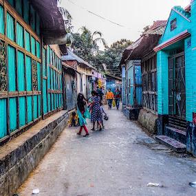 Kids Playing by Topu Saha - City,  Street & Park  Street Scenes ( playing, bangladesh, street, on, chandpur, streets, kids, people, kid )