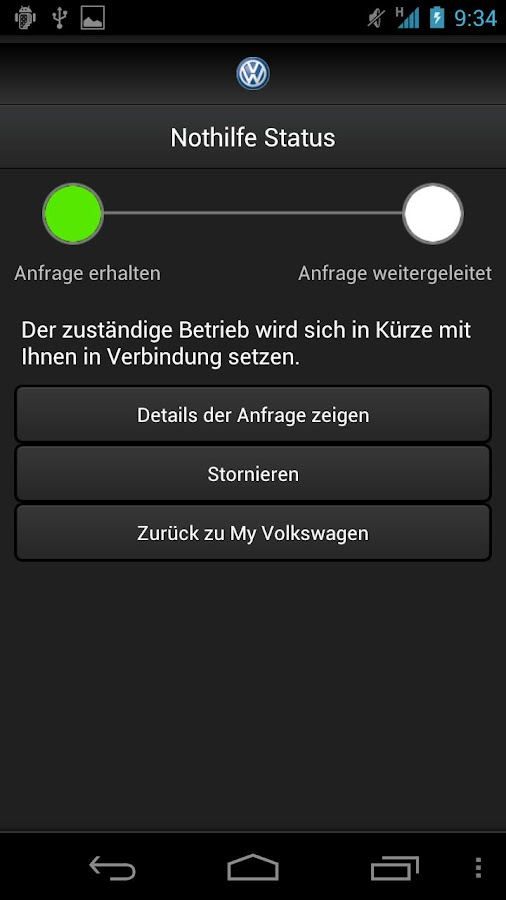 myVolkswagen +- screenshot