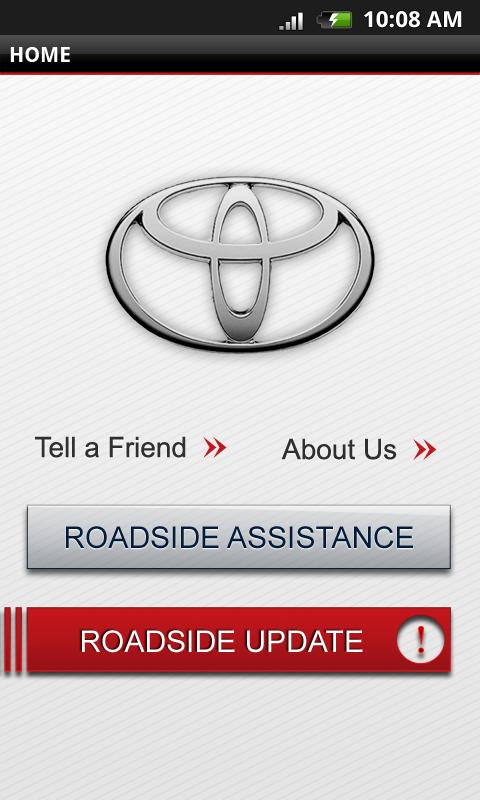 Toyota Roadside Assist - screenshot