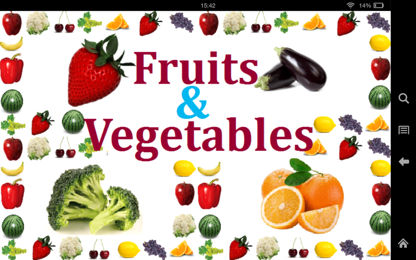 fruits u0026 vegetables for kids android apps on google play