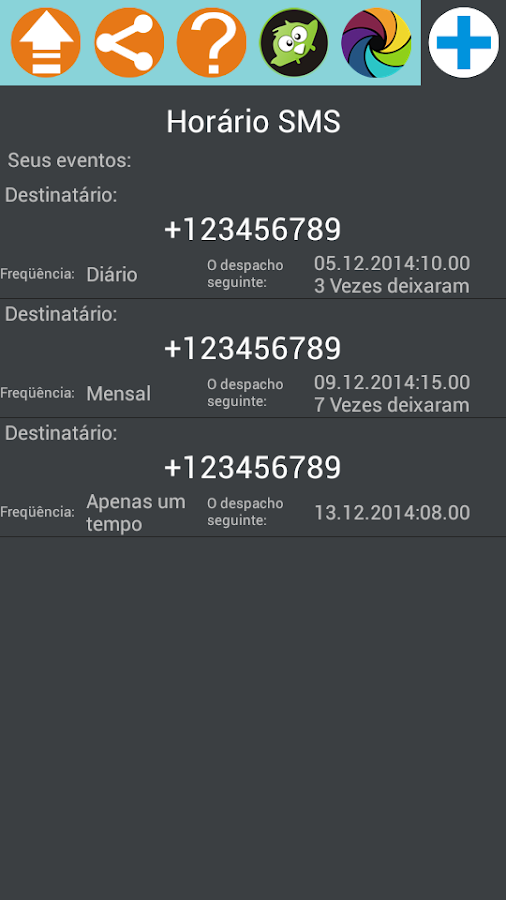 SMS Scheduler- screenshot