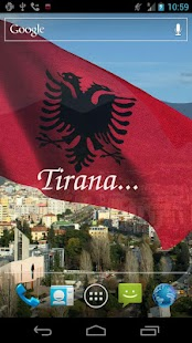 3D Albania Flag Live Wallpaper- screenshot thumbnail