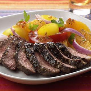 Citrus Italian Steaks With Tomato Salad.