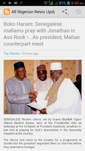 Nigeria Top Headline News