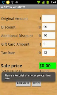 Sale Price Calculator - screenshot thumbnail