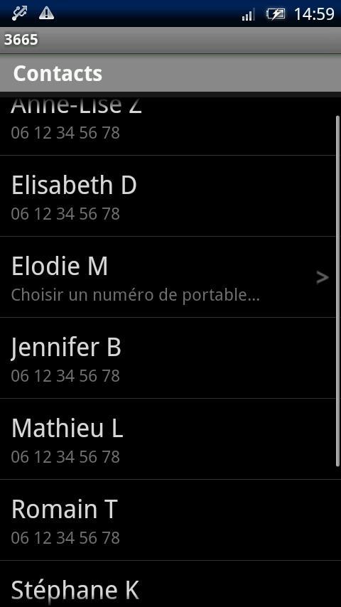 3665 : Accès Direct Répondeur Mobile- screenshot