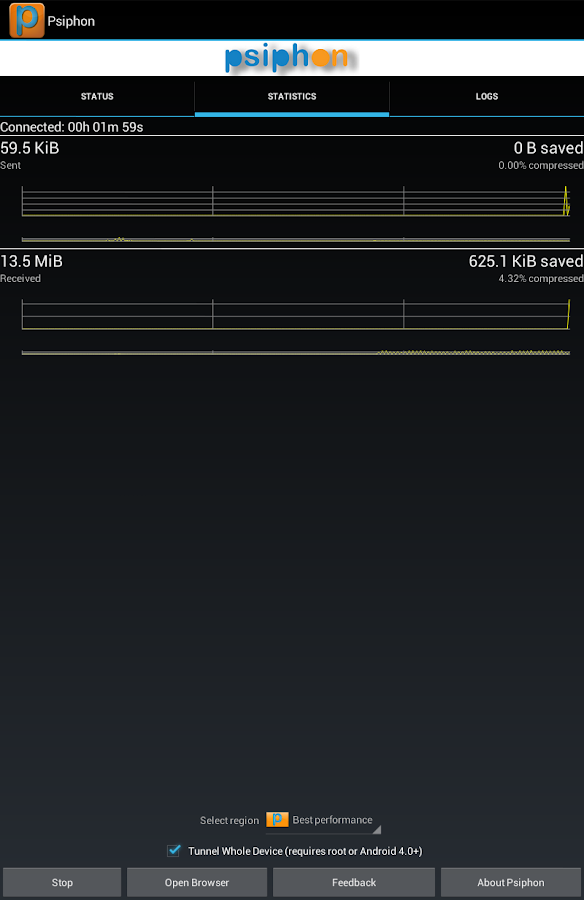 Psiphon - screenshot