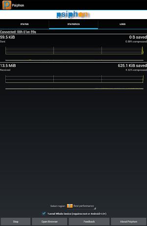 Psiphon app screenshot