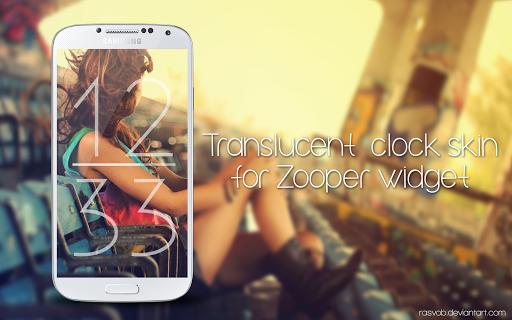 Translucent Clock for Zooper