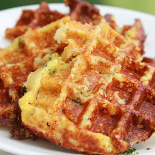 Savory Cheese Chive Waffles