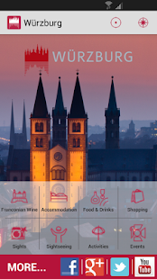 Würzburg - mobile travel guide - screenshot thumbnail