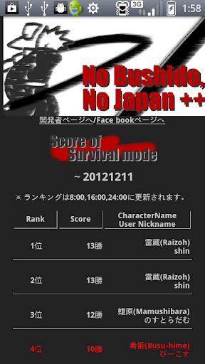【免費體育競技App】No Bushido, No Japan++(Free)-APP點子