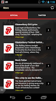 Screenshot of Official Rolling Stones