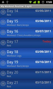 My Workout Routine - screenshot thumbnail