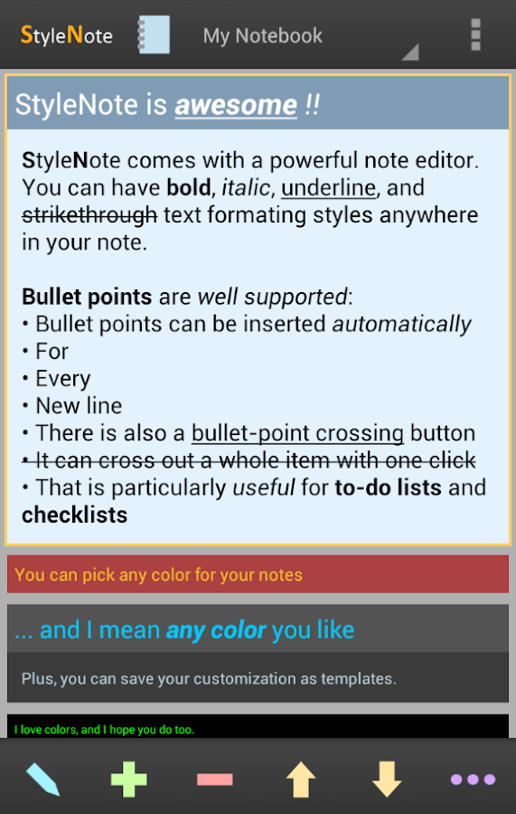StyleNote Notes & Memos- screenshot