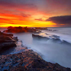 MENGENING BEACH by Krishna Mahaputra - Landscapes Sunsets & Sunrises ( bali, nature, sunrise )