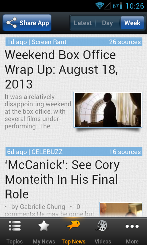 Movie & Box Office News - screenshot