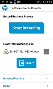 HP LoadRunner Mobile Recorder - screenshot thumbnail