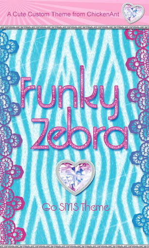 Funky Zebra Theme GO SMS