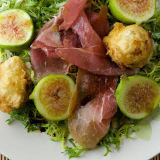 Fried Goat Cheese and Fig Salad.