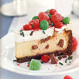 Christmas Cheesecake with English Toffee Filling