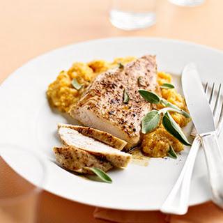 Cinnamon Roasted Chicken with Pumpkin-Sage Grits