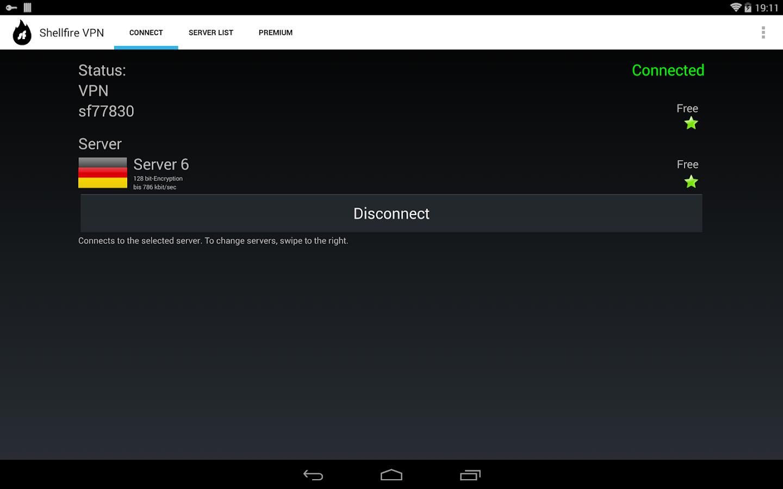 Shellfire VPN - screenshot
