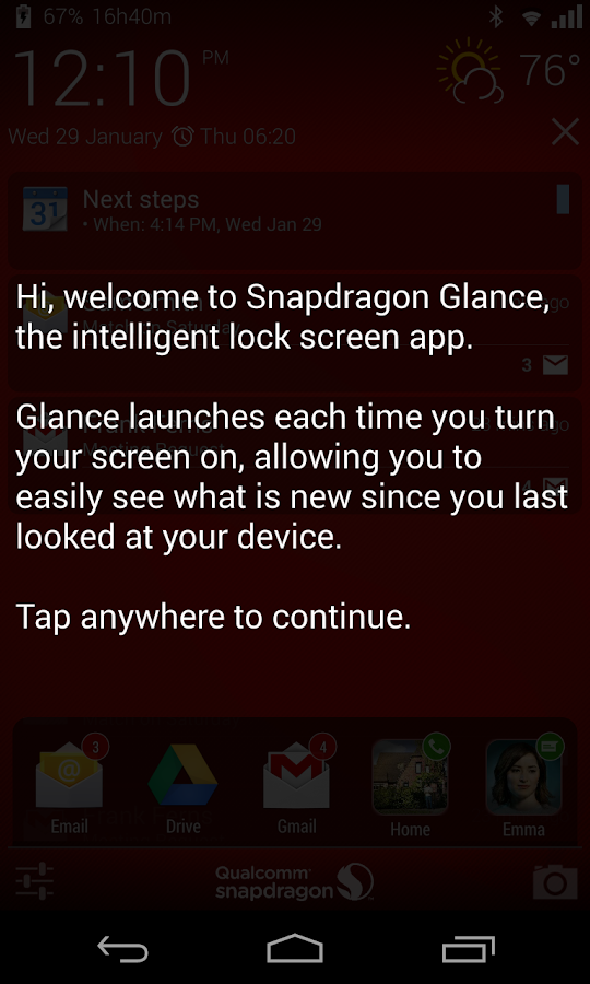 Snapdragon™ Glance (Beta) - screenshot