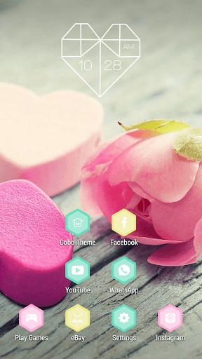 粉紅玫瑰浪漫愛情主題