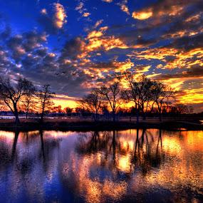 Blaze by DE Grabenstein - Landscapes Waterscapes ( nebraska )
