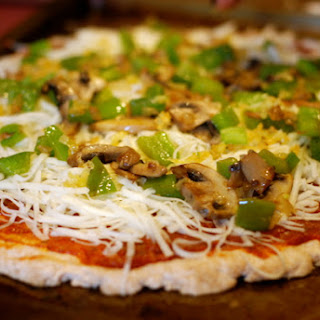 Gracie'S Healthy Veggie Pizza {on 3 Ingredient Whole Wheat Crust} Recipe