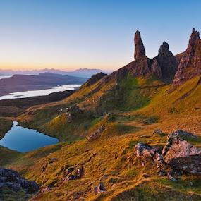 OLD MAN OF STORR by Evžen Takač - Landscapes Mountains & Hills ( scotland, mountains, travel, sunrise )