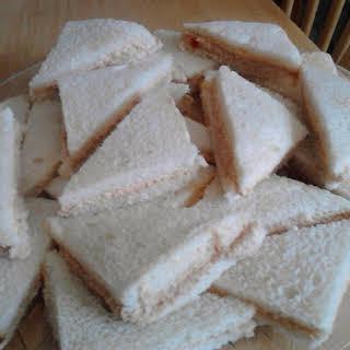 Ham & Pimento Cheese Finger Sandwiches.