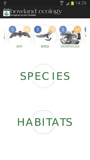 Ecological Survey Calendar