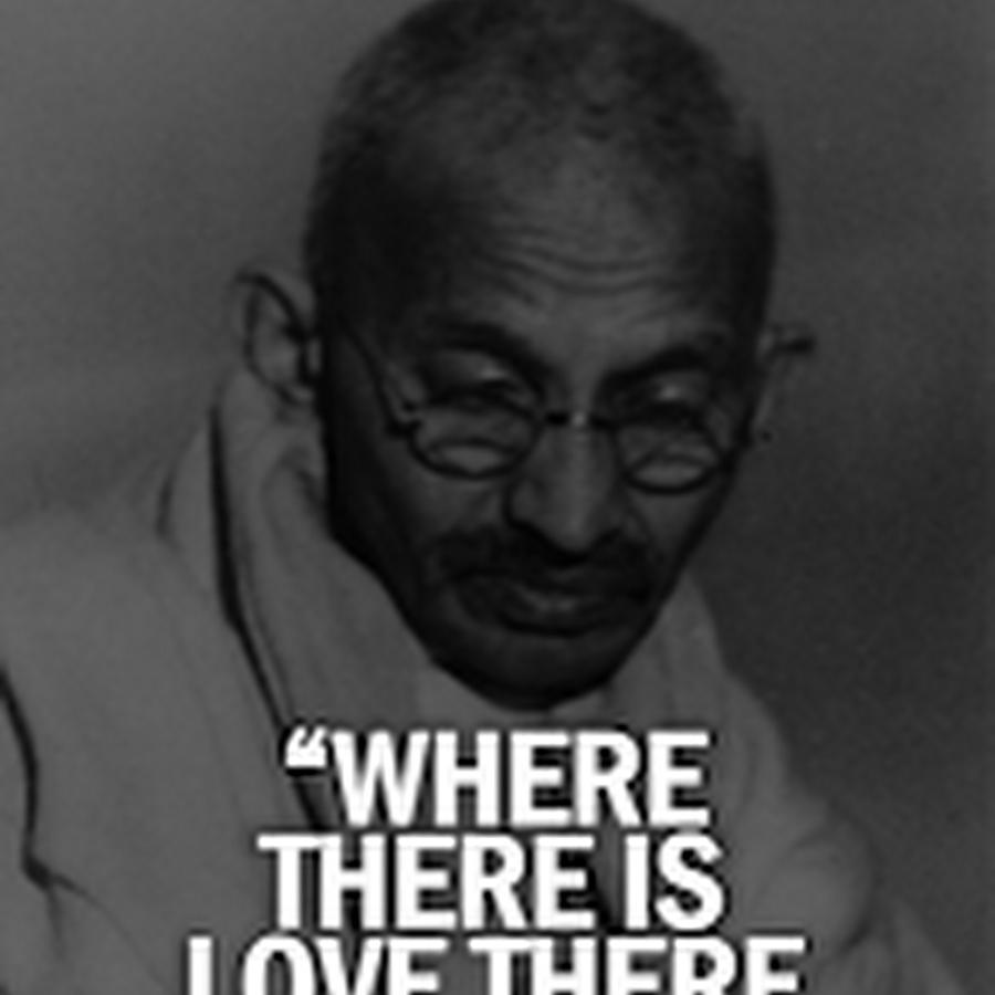 Gandhi Zitate Deutsch Englisch