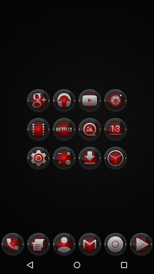 Black and Red - Icon Pack - screenshot