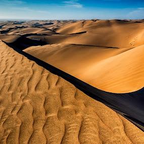 Desert Lines by Johan Jooste Snr - Landscapes Deserts ( sand, dunes, namib desert, patterns, desert, namibia )