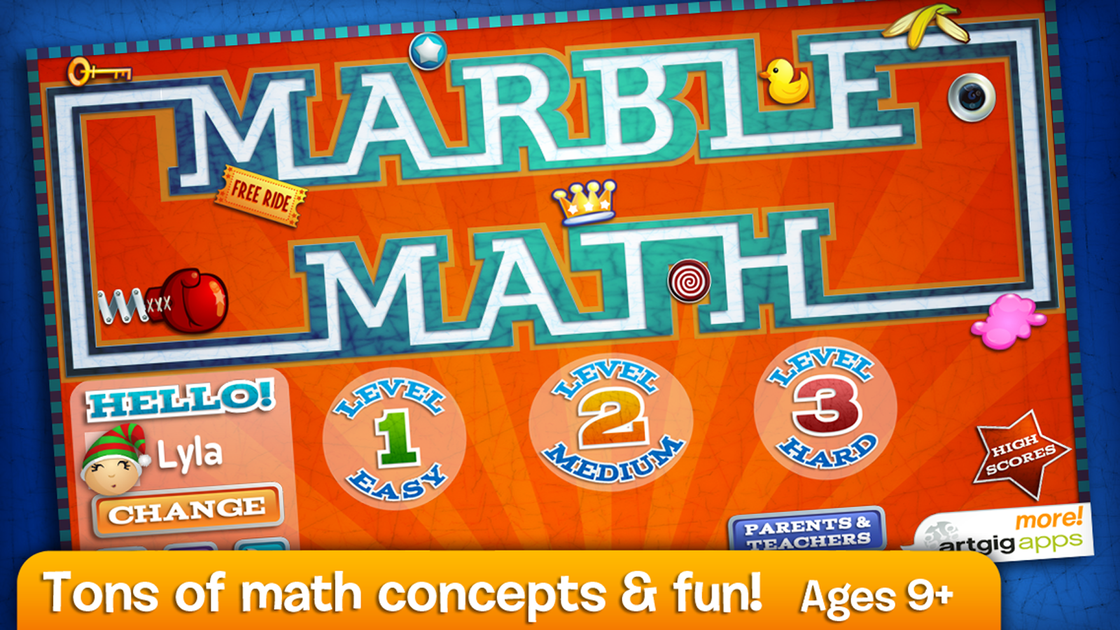 Marble Math- screenshot