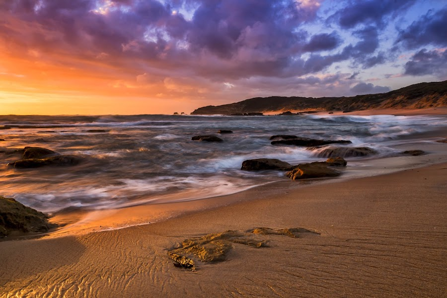 Gold Coast by Keith Walmsley - Landscapes Sunsets & Sunrises ( water, clouds, hills, nature, landscape, rocks, natural )