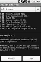 Screenshot of HL7 V2.6 Data Types