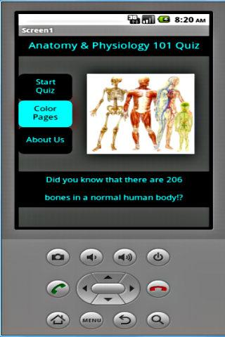 Anatomy and Physiology Quiz - screenshot